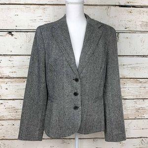 Sz 14 Tommy Hilfiger Grey Tweed 3 Button Blazer